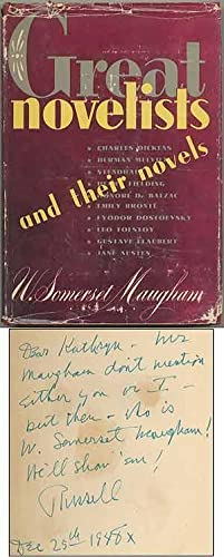 Great Novelists and Their Novels: Essays on: MAUGHAM, W. Somerset.