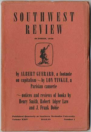 Southwest Review - October 1938 (Volume XXIV, Number 1)