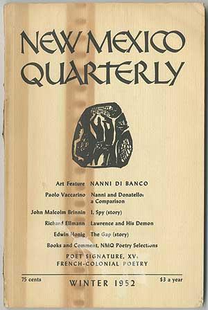 New Mexico Quarterly - Winter 1952 (Volume: ELLMANN, Richard, Edwin