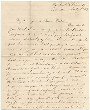 Autograph Letter Signed addressed from U.S. Steamship Mississippi, 1849