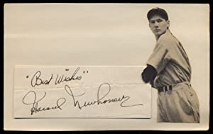 Signed Photograph on Card: NEWHOUSER, Hal (Harold)