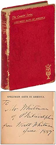 Specimen Days in America: WHITMAN, Walt