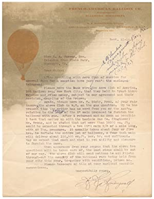 [Letter]: French-American Balloon Co.