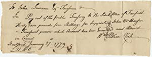 Revolutionary War Autograph Pay Order issued by William Pitkin, and Signed as Received by Benjami...
