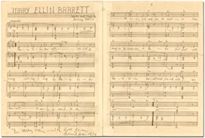 [Manuscript Song]: Mary Ellin Barrett