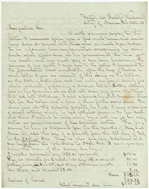 [Mexican-American War]: Autograph Letter Signed