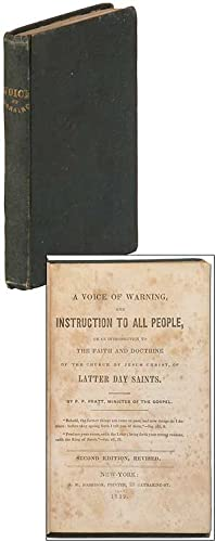 A Voice of Warning, and Instruction to: PRATT, P.P.