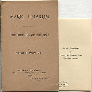Mare Liberum: The Freedom of the Seas: MUIR, Professor Ramsay