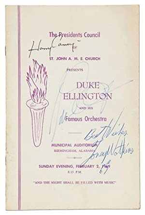 [Program]: The Presidents Council of St. John A.M.E. Church Presents Duke Ellington and His Famou...
