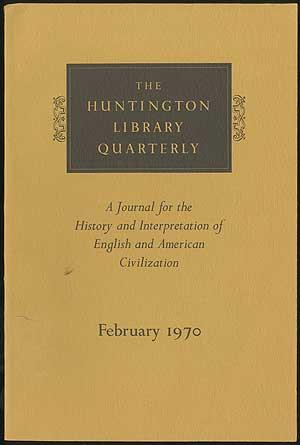The Huntington Library Quarterly: A Journal for: DICKINSON, H. T.,