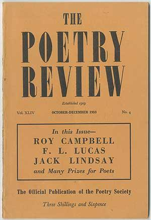 The Poetry Review - October-December 1953 (Volume: CAMPBELL, Roy, F.L.