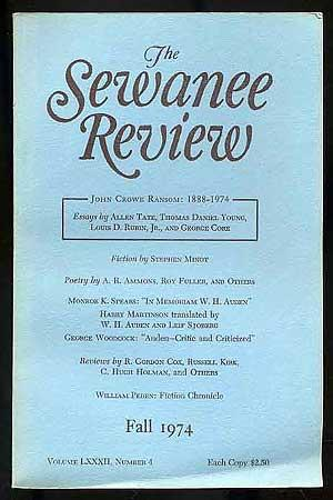 The Sewanee Review: Volume LXXXII, Number 4,: CORE, George (Editor)