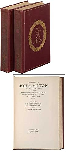 The Poems of John Milton: Two Volumes: MILTON, John