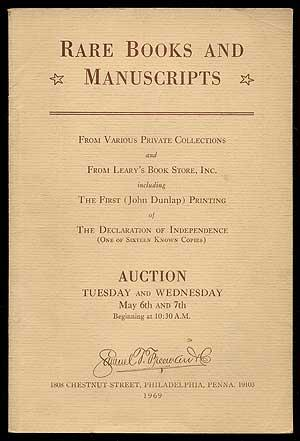 Rare Books and Manuscripts from Various Private: FREEMAN, Samuel T.