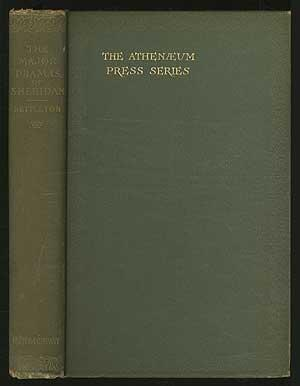 The Major Dramas of Richard Brinsley Sheridan: NETTLETON, George Henry,
