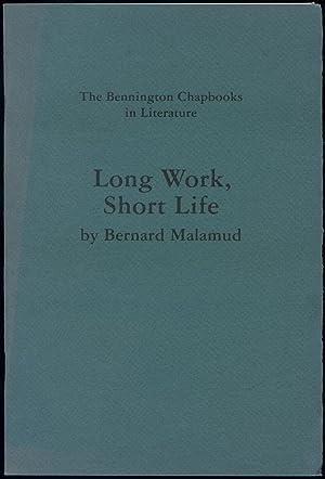 Long Work, Short Life: MALAMUD, Bernard