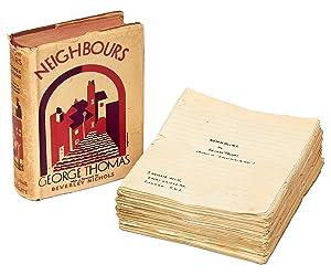 Neighbours [with] Original Handwritten Manuscript: THOMAS, George