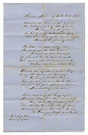 Manuscript Poem]: Masonic Mariner: WHITE, Rev. Br.