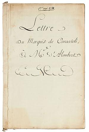 Manuscript]: Lettre du Marquis de Caraccioli, à: Philippe Henri, Comte