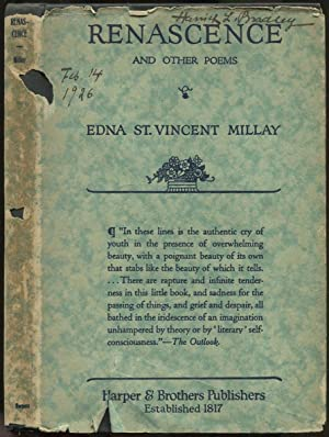 Renascence and Other Poems: MILLAY, Edna St.