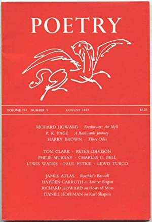 Poetry: Volume CXIV, Number 5, August 1969: CARRUTH, Hayden, Richard