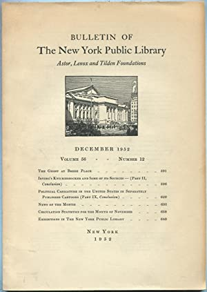 Bulletin of The New York Public Library: December 1952, Volume 56, Number 12: ERDMAN, David V., ...