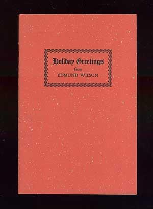 Holiday Greetings 1966: WILSON, Edmund