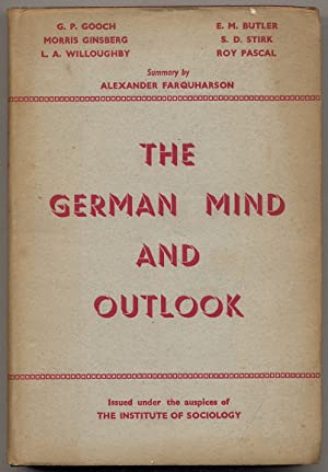 The German Mind and Outlook