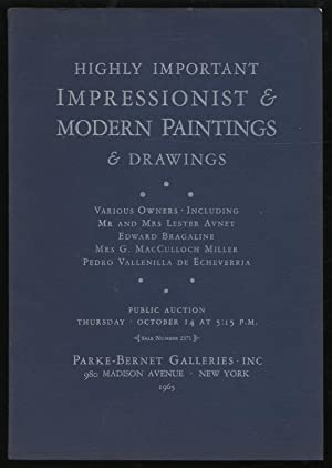 Highly Important Impressionist and Modern Paintings and Drawings