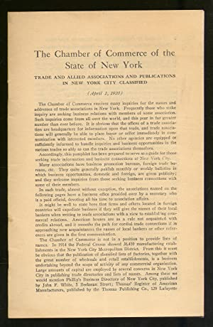 Trade and Allied Associations and Publications in New York City Classified