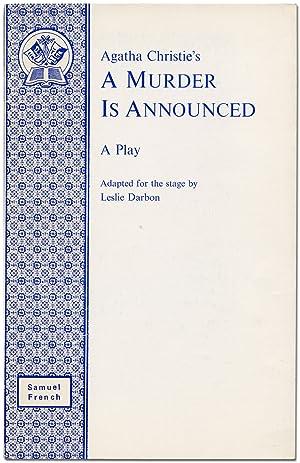 Agatha Christie's A Murder Is Announced: A: CHRISTIE, Agatha). DARBON,