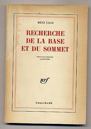 Recherche de la base et du sommet: CHAR, Rene