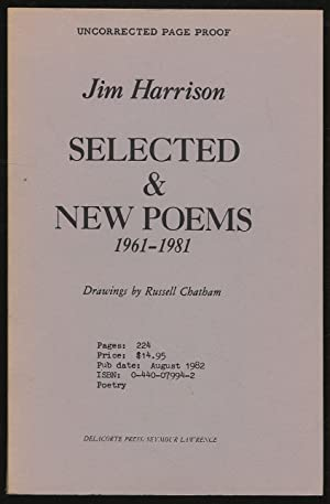 Selected & New Poems 1961-1981: HARRISON, Jim