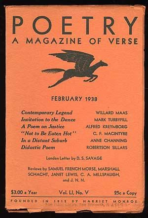 Poetry: A Magazine of Verse February 1938: KREYMBORG, Alfred)