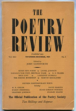 The Poetry Review -- Vol. XLI, No.: DURRELL, Lawrence, Rachel