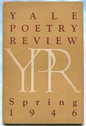Yale Poetry Review -- Volume I, Number: WILLIAMS, William Carlos,
