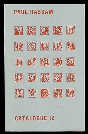 Paul Rassam: Catalogue 12