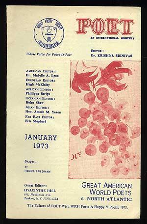 Poet: An International Monthly January 1973: SRINIVAS, Krishna, editor