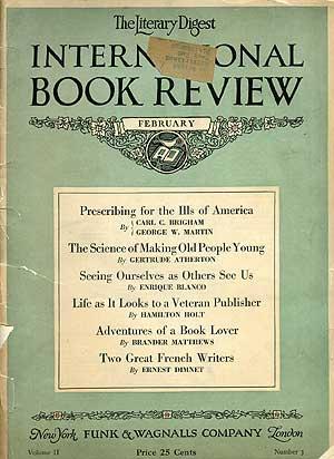 The Literary Digest International Book Review: February,: WIDDEMER, Margaret)
