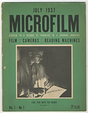 Microfilm; Devoted to a Record of Progress in a Growing Industry: WOOD, W. Wadsworth