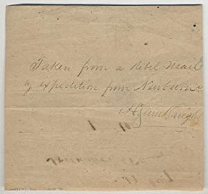 Partially printed document]: Letters from Chapel Hill, N.C.