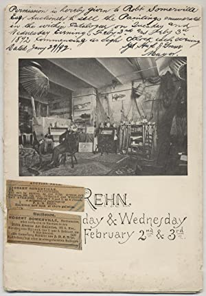 Catalogue of Paintings of F.K.M. Rehn, of New York. to be sold at auction . Robert Somerville, Au...