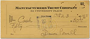 Bank Check Signed Twice by Dawn Powell: POWELL, Dawn