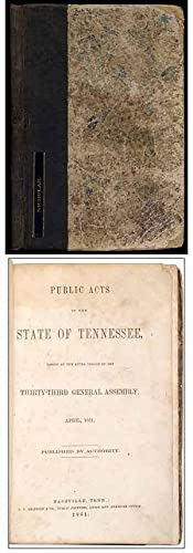 Public Acts of the State of Tennessee, Passed at the Extra Session of the Thirty-Third General As...