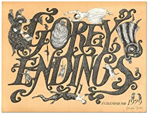 Broadside]: Gorey Endings: A Calendar for 1979: GOREY, Edward