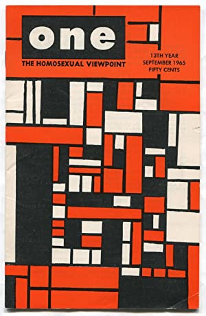 One: The Homosexual Viewpoint, Vol. XIII, Number 9, September 1965: CONGER, Richard, edited by