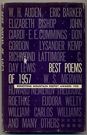 Best Poems of 1957: Borestone Mountain Poetry: PLATH, Sylvia, W.H.