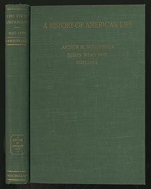 A History of American Life Volume II: WERTENBAKER, Thomas Jefferson
