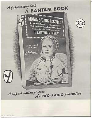 Mama's Bank Account: Original Poster for the: FORBES, Kathryn