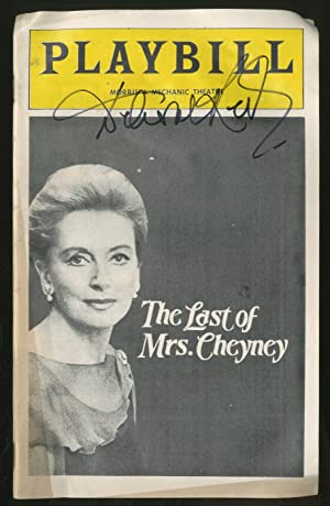 Playbill]: The Last of Mrs. Cheyney: LONSDALE, Frederick